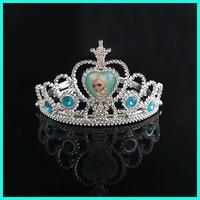 14cm small cheap fancy dress costume princess Elsa Anna frozen head crown for sale