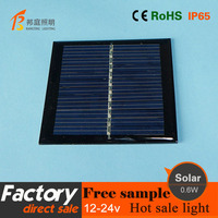 1 High quality 5.5V 0.6W portable mobile solar charger,solar mobile charger for digita electronic products
