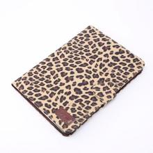 Leopard leather case for iPad mini wallet case and stand case with card slots and money slot