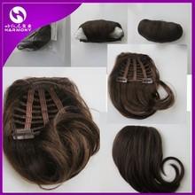 New Stock 100 natural human hair bangs/human hair fringe/clip natural hair bangs
