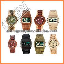nuevo 2015 lujo de alta calidad de bambú de madera reloj