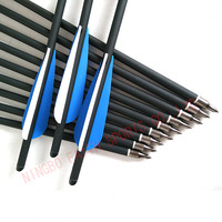 20 inch length 8.8mm hunting crossbow arrows carbon and fiberglass mixed bow and arrow bolts