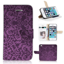BTD Luxury Stand Case for Apple iphone 5 5S 5G Accessories Vintage Purple
