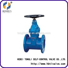 Non-rising Stem Resilent Soft Seated Double Flange Gate Valve DN300