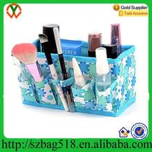 Sky Blue Makeup materila Cosmetic Storage Box Bag Organizer Foldable Makeup Stationary Container