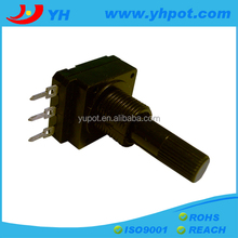 jiangsu 16mm high quality volume control rotary 10k linear potentiometer with 3 straight pins
