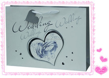 Customize valentine paper shopping bag