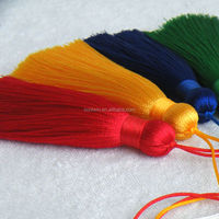 mini CoolWin 7cm silk tassels with loop for bracelet earring jewerly