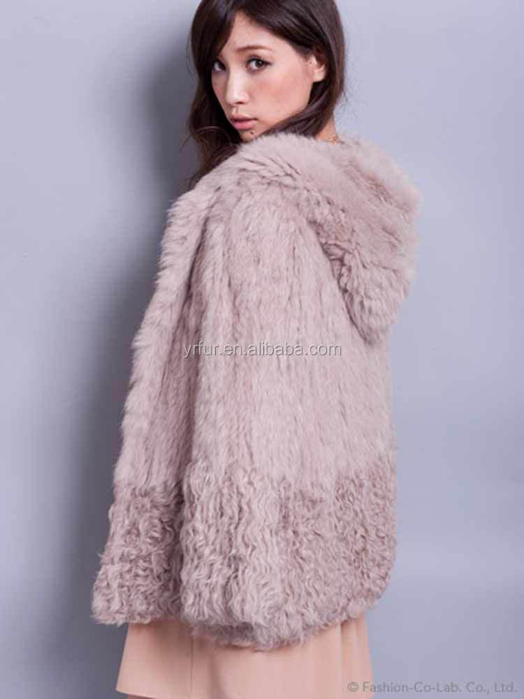 Veste fourrure de lapin femme