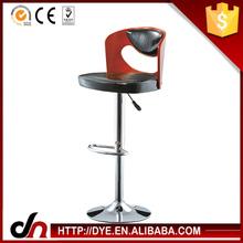 Modern chromed base led outdoor bar stools,unique bar chair,leather metal bar stool