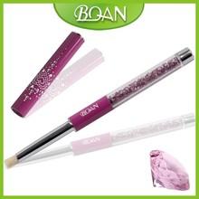 BQAN 2015 Acrylic Handle with Purple Diamonds Nail Art Bristle Nail Brush
