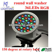 high power 36w led round wall washer