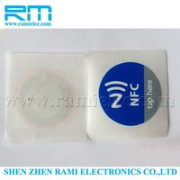 lowest price anti-theft rfid tag blank writable UHF sticker for acupressure/tracking system