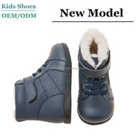 high class fashion grey fur lining winter warm cow leather boots little lady toddler woman casual shoes