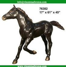 High quality 2015 brass horse sculpture