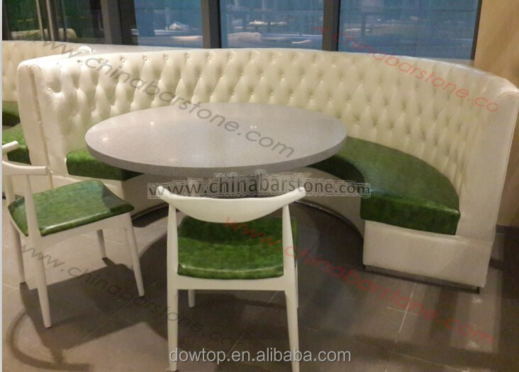 Half Round Restaurant Booth Sofa Curved