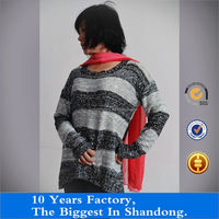 Fashion o-neck lady pullover 100 Acrylic sweater