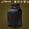 customized aluminum foil coffee bag/coffee bag with valve/matt black coffee bag
