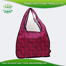 Promotional Customer Logo Nylon Shopping Foldable Bag