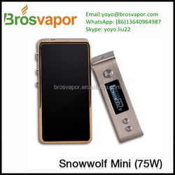 New Arriving!!!Brosvapor Yoyo 2016 Top Quality limited snowwolf Mini 75W/Crazy Hot mini snowwolf 75 vape mod