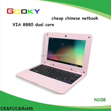 VIA 8880 dual core 7 inch cheap chinese netbook