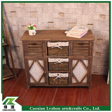 Antique Home Furniture Wooden Coffee Storage Cabinet with Doors