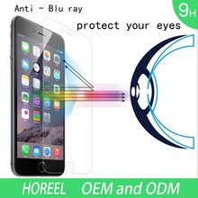 Popular !! blue light tempered glass screen protector for Iphone 4