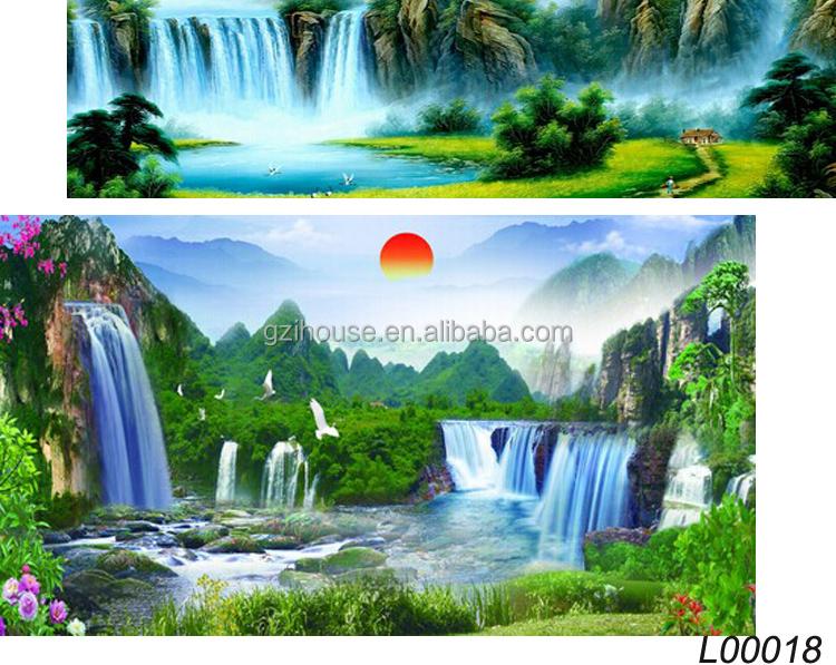 2015 guangzhou factory new designs for home beautiful wall mural winter scenery winter nature pixersize com