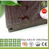 WPC decking flooring wood plastic composite wood grain embossed outdoor flooring