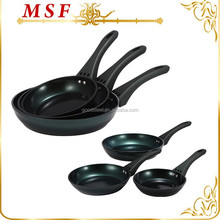 MSF steak cooking tools forged aluminum frying pan with soft coating bakelite handle MSF-6085
