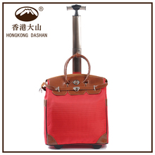 ALH01 HK DA SHAN Wholesale Eco Friendly Single Trolley Travel Tote Bag with Wheels