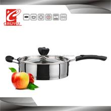 CYFP524C-18 stainless steel multi function cooker 24cm frying pan