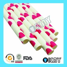 2015 Hot Party Packs Romantic Valentine Paper Straw