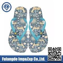 blue island slipper flip flops,pvc strap bulk flip flops,custom printed flip flops