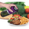 plastic 2 in 1 oil and vinegar dispenser, spray olive oil and vinegar bottle
