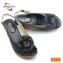 Fancy no heel wedge Ladies sandal