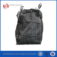 ZR CONTAINERS - BLACK TON BAG BUILDERS/DUMPY BULK 1 TON/TONNE RUBBLE BAGS WASTE STORAGE BAGS