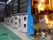 aluminum melting holding furnace for produce ingots