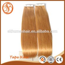 Factory Price Wholesale Tape Hair Extensions, Top Quality Remy Human Hair, Natural Color Silky Straight Peruvian Virgin Hai