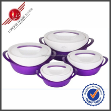 2015 New Product Purple Home Garden Unit Double Handles Food Warmer Hot Pot Container With Lids