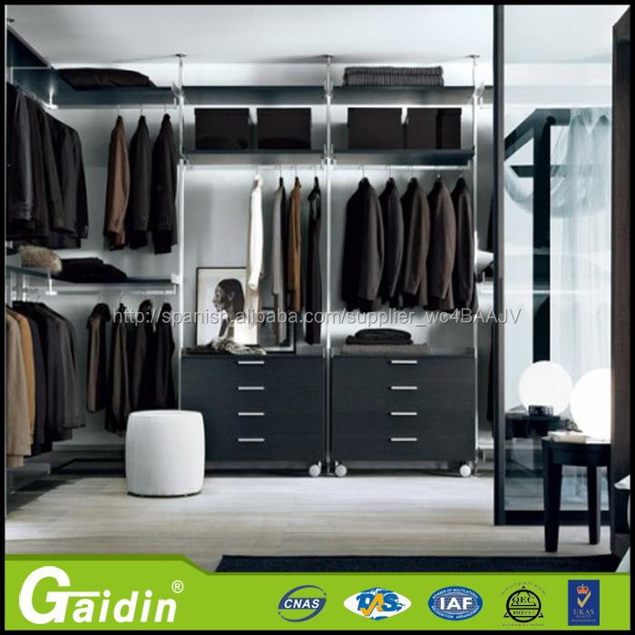 pared del dormitorio armario montado diseña acero barato armarios ...