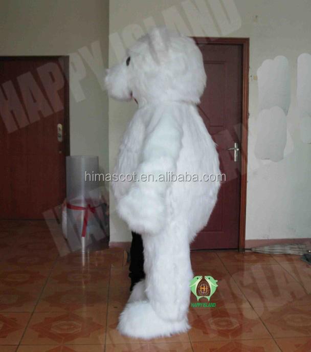 oi 2014 eyeshade quente polar bear traje adulto mascote