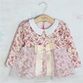 Ys-03 großhandel mode kinder frühjahr kind chothes kinder kleidung mädchen europa blumen Ärmel baumwolle lang- Ärmeln kleid