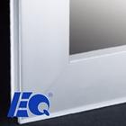 Cozinha borda livre armário de vidro porta de alumínio perfil