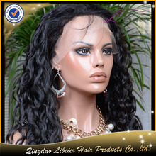 LiBeier style 100% virgin brazilian hair full lace wig ,hot sale black women brazilian hair full lace wig
