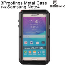 Wholesale Aluminium Waterproof Case for Samsung Galaxy Note 4