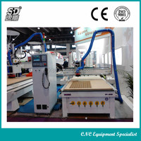 JINAN SUDIAO CHINA CNC Milling Machine SD1325C with HSD 9.0kw Spindle YASKAWA servo Vacuum suction table