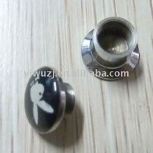 Alloy inlayed picture oil drip flesh tunnel ,body piercing jewelry