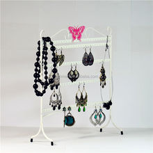 strange shape crazy selling hanging earring displays stand / jewelry display wrought iron console table Eco friendly