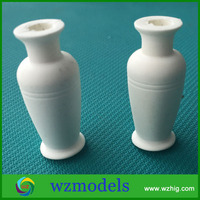 1:20 Small Flower Pot Model White Plant Vase Bottle Sculpture for Garden Layout